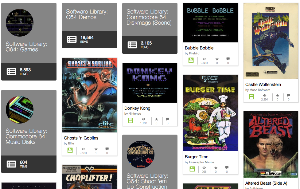 ARCHIVE ORG added thousands of C64 games to play online